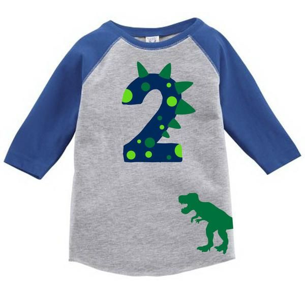 Age Memory Dinosaur Birthday Custom Raglan Toddler Shirt With Name On Back