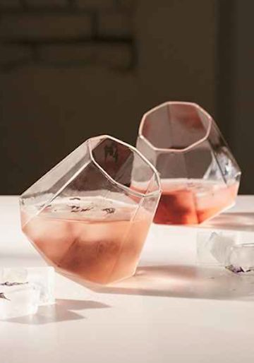 diamond wine glass set