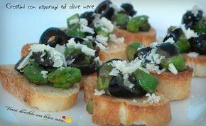 Crostini con asparagi ed olive nere2