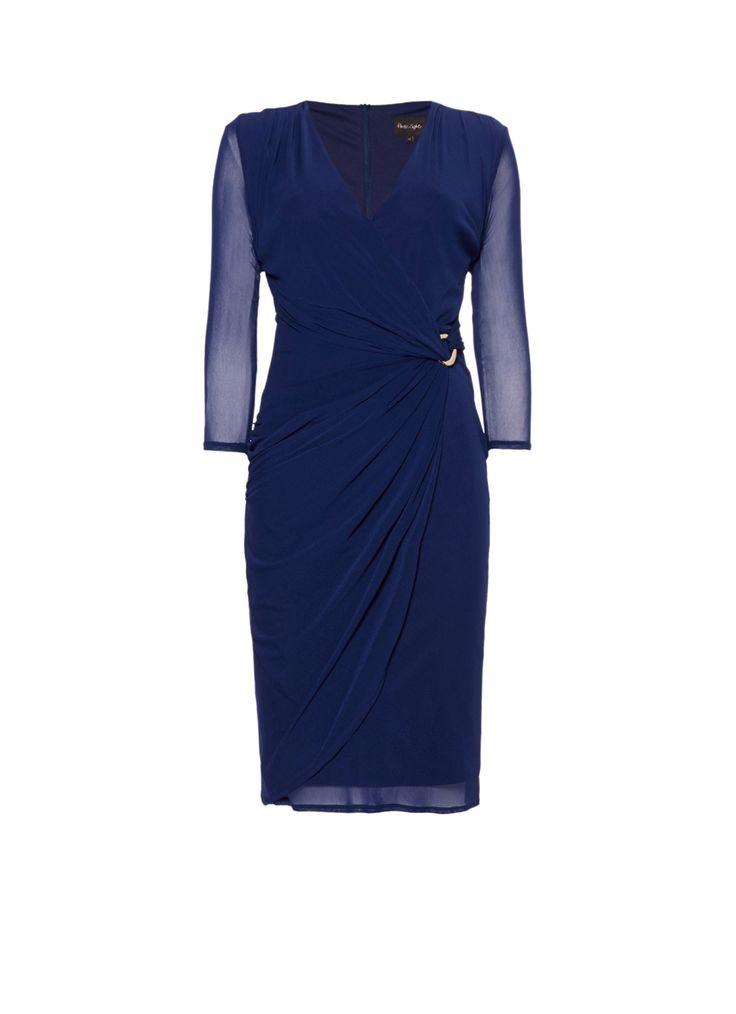 Phase Eight Everleigh mesh jurk in kobaltblauw • de Bijenkorf