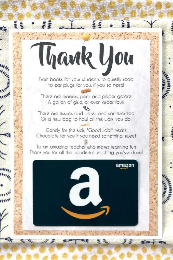 Teacher Appreciation Card Printable To Use With A Gift Card Teacher Appreciation Printables Teacher Appreciation Gift Card Printable Teacher Appreciation Gift Card