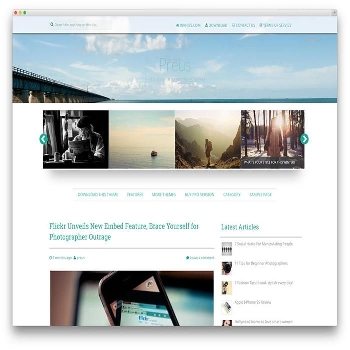 free wp photography themes