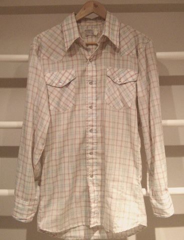 White and Pink Checked Stochman Shirt