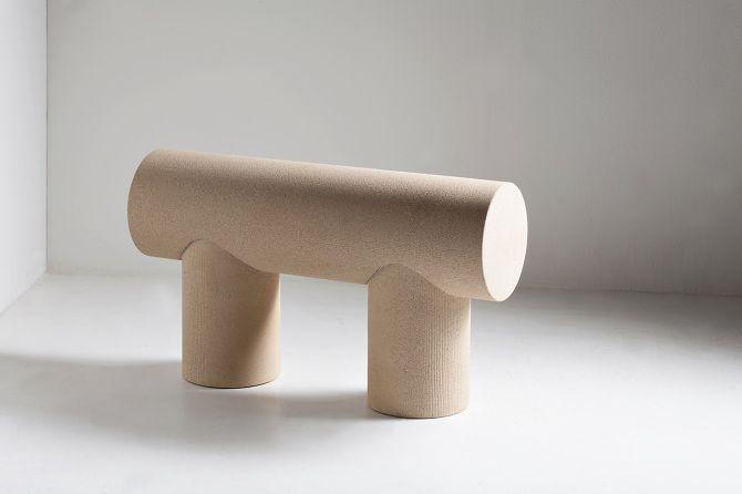 Artefact #1 - Sandstone bench Last of the Free - Nick Ross - Design Studio