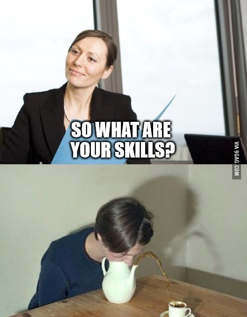 During a job interview