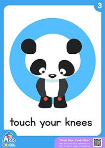 Panda Bear, Panda Bear | Action Verb Bedtime Song - touch your knees