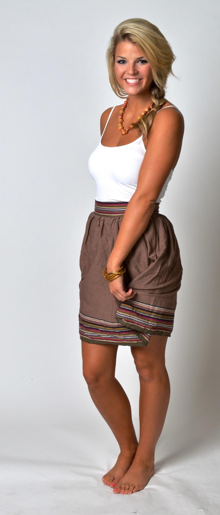 Kikoy skirt in brown