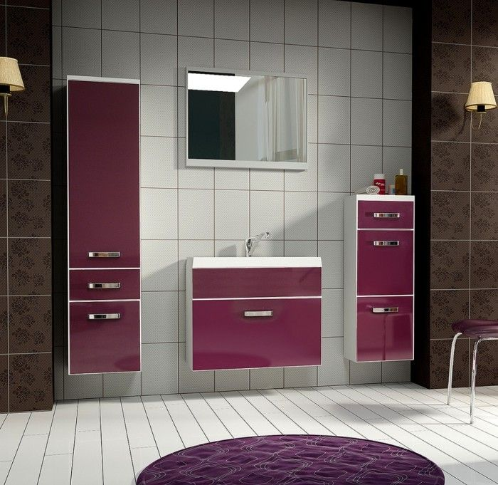 Evo paars/wit badkamer | Woon en zo meubelzaak tilburg