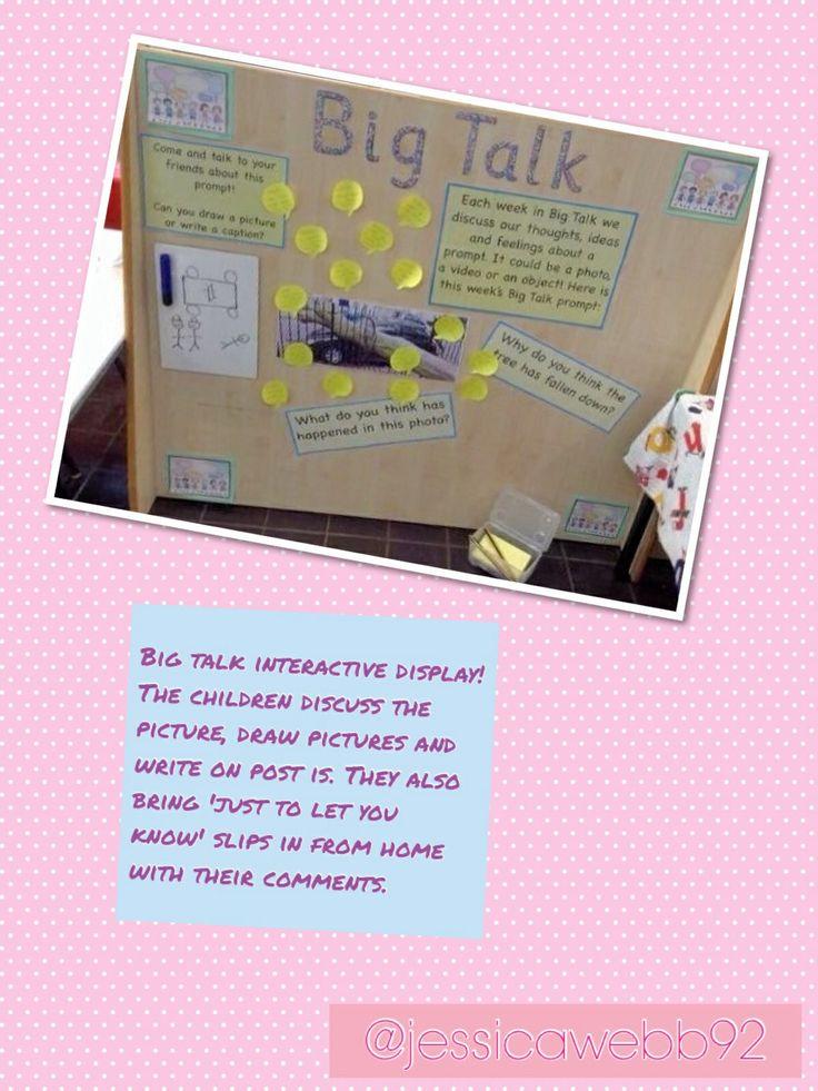 Interactive big talk display. EYFS