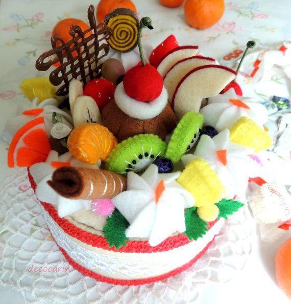 Feltro casella portagioie contenitore di dolci torta di decocarin