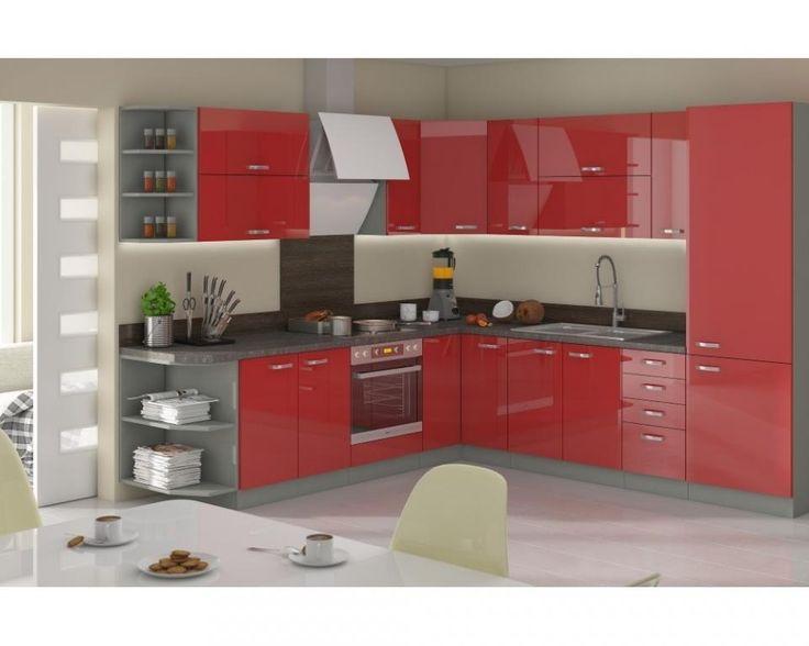Meble kuchenne ROSE czerwony połysk ! PROMOCJA !!