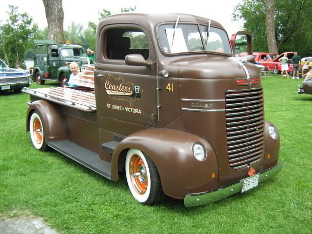 '41 Dodge COE don't see many Dodge COEs. i like the hidden compartments under the custom flat bed.