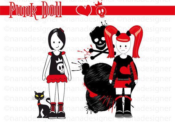 Punk Doll di nanadesignershop su Etsy