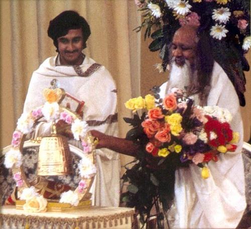 Sri Sri Ravi Shankar with Maharishi