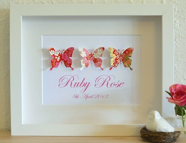 15 best baby girls personalised gifts images on pinterest baby trinity personalised butterfly gift at lovepaperscissors negle Image collections