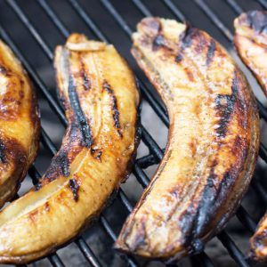 These Rum-Glazed Grilled Bananas are literally the simplest dessert I've ever made. Make them whenever the grill is on. You'll be the happiest griller ever.