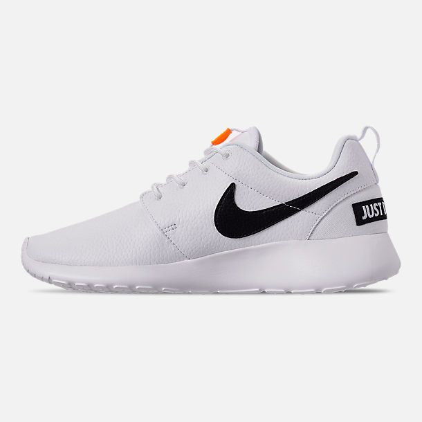 6b2d9749cf Left view of Women s Nike Roshe One Premium Casual Shoes in  White Black Total Orange