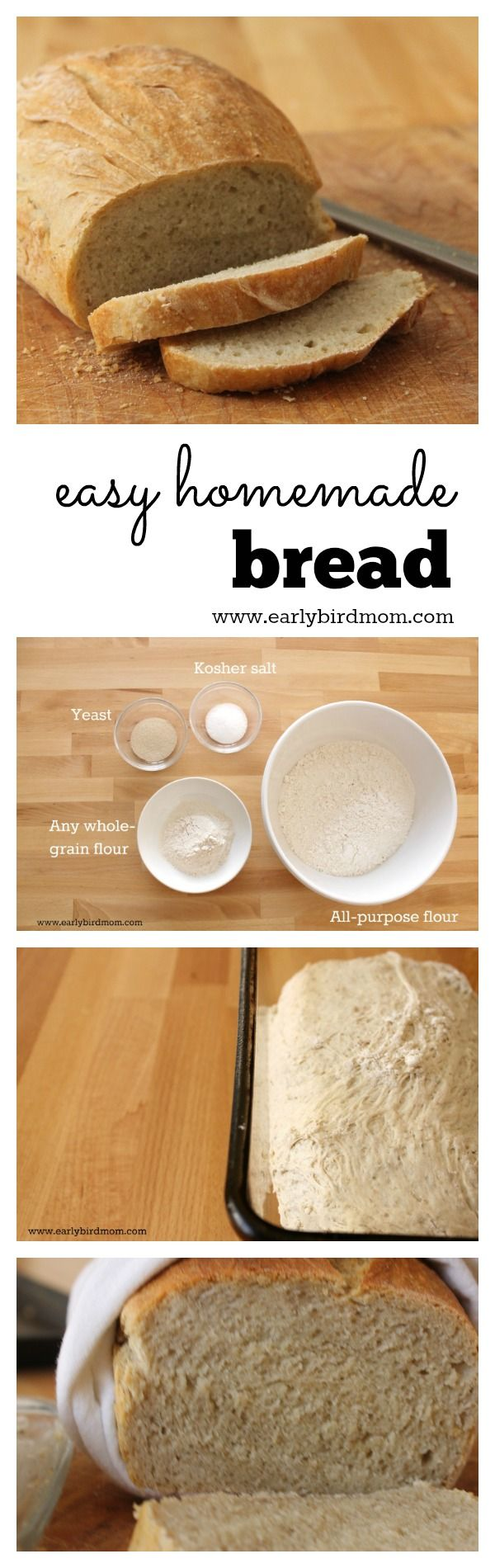 Easy homemade wheat bread  It  39 s so simple that you can have fresh bread for dinner every night  No knead  no fuss  This quick and healthy recipe uses just 4 ingredients  plus water   This recipe is so reliable   it works every time