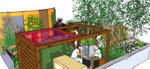 SketchUp garden model