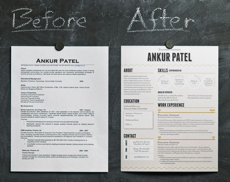 Some examples of a basic resume with pumped up visual design - great way to differentiate yourself from other job candidates