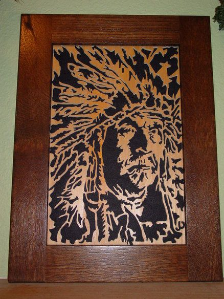 Indian Chief Scroll Saw Portrait Scroll Saw Art Pinterest