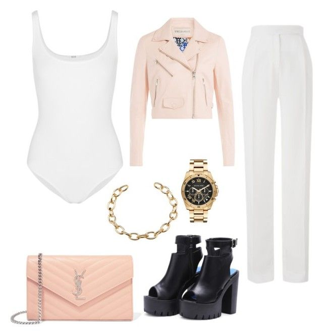 """""""Sans titre #852"""" by inconnito-unknow on Polyvore featuring mode, Amanda Wakeley, Yves Saint Laurent, Wolford, Emilio Pucci et Michael Kors"""