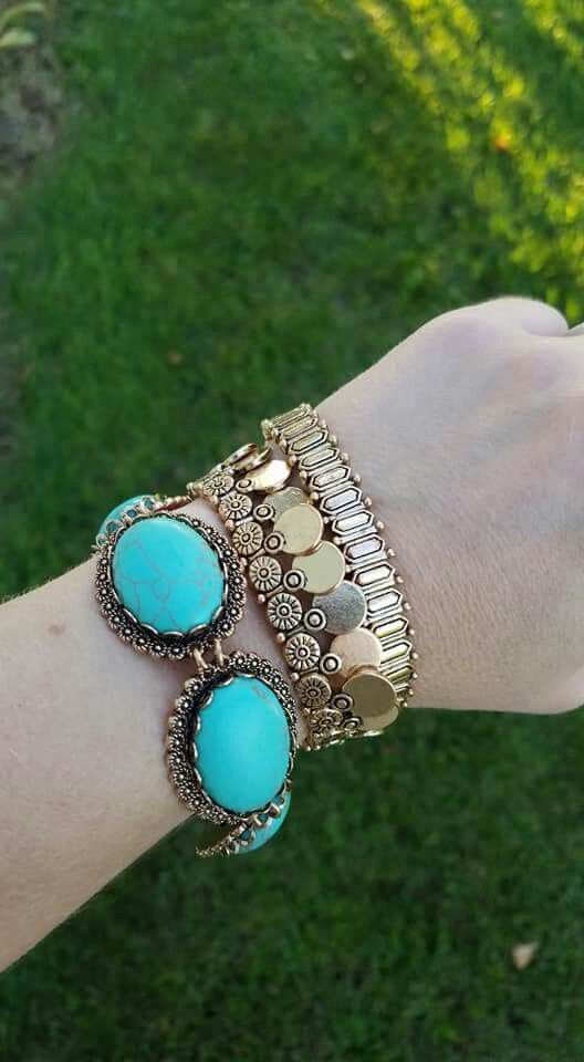 2f3c0d2b4 All that gold and turquoise love! #armparty with the marcella, morgan, and  tayla bracelets