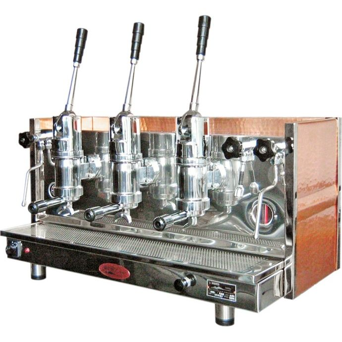 professional coffee express machine | Professional lever coffee machine Bosco Sorrento, 4 groups