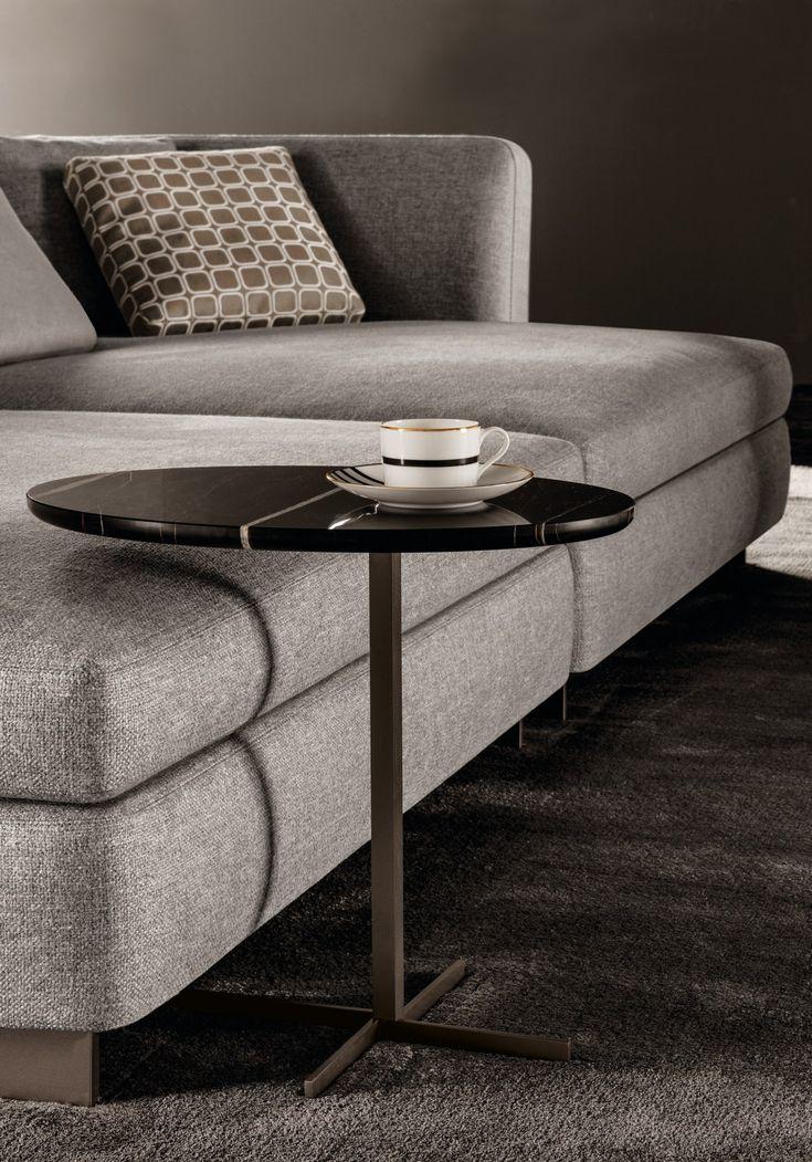 "Oval marble side table JOY ""JUT OUT"" by Minotti design Rodolfo Dordoni"