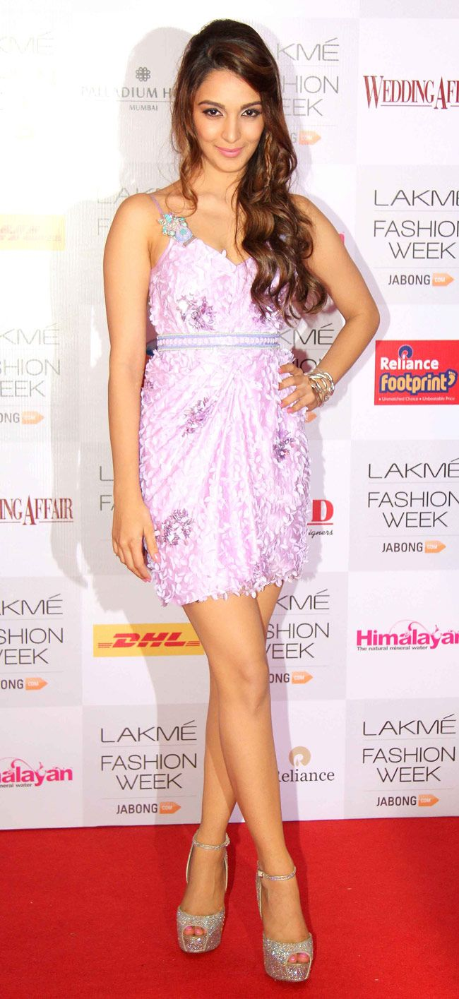 Kiara Advani looked dazzling in a short pink number at the Lakme Fashion Week 2014 curtain raiser. #Style #Bollywood #Fashion #Beauty #LFW2014