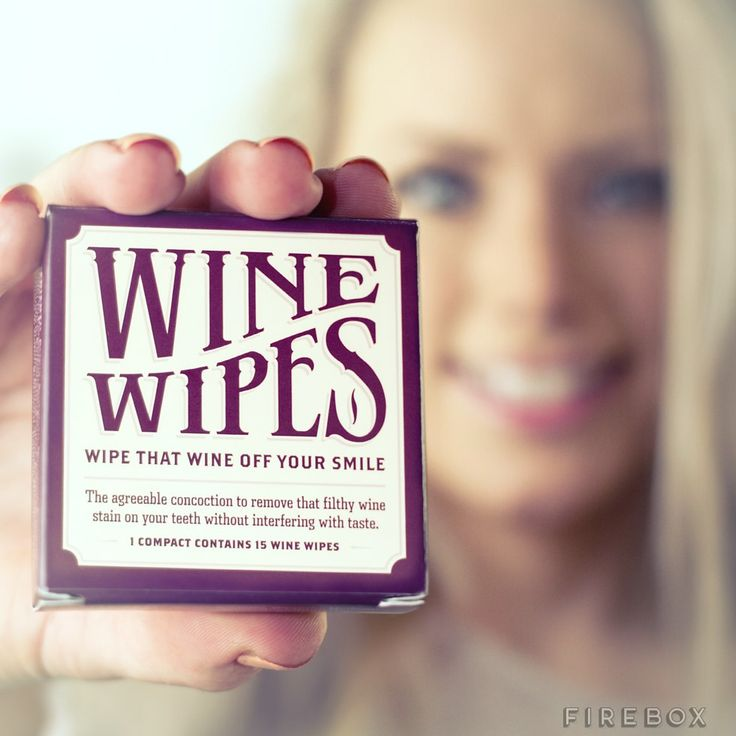 Wine Wipes - stocking stuffer for the wine lovers in my life.