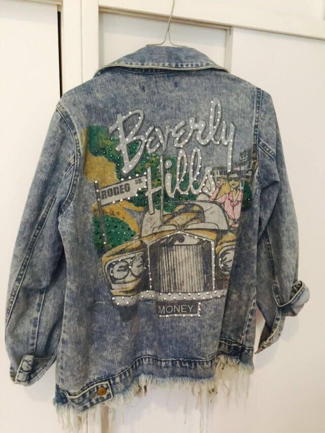 This denim Beverly Hills jacket is so cool and casual.