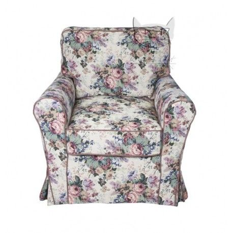 Fotel w stylu rustykalnym - Marie