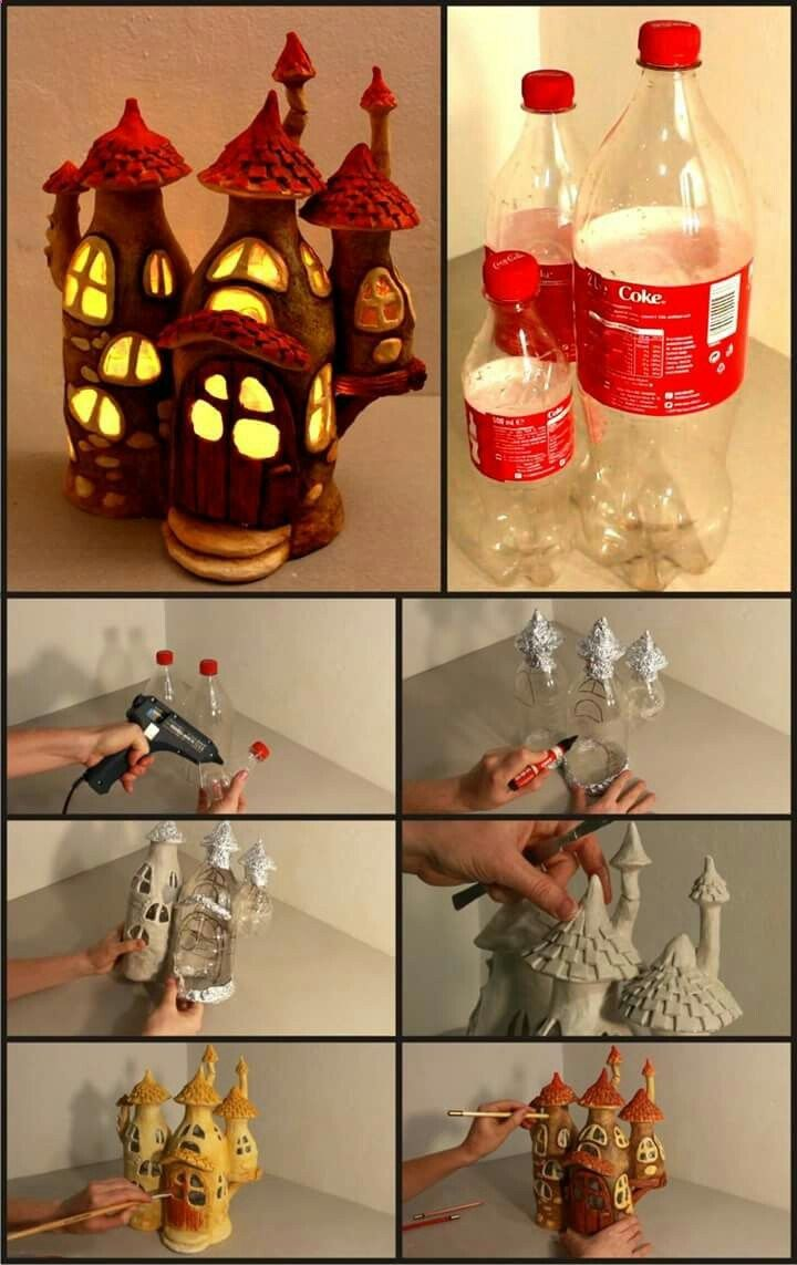 Paper mache -- good medium to do this project .. put in LED night lite to brighten up youngsters room ......