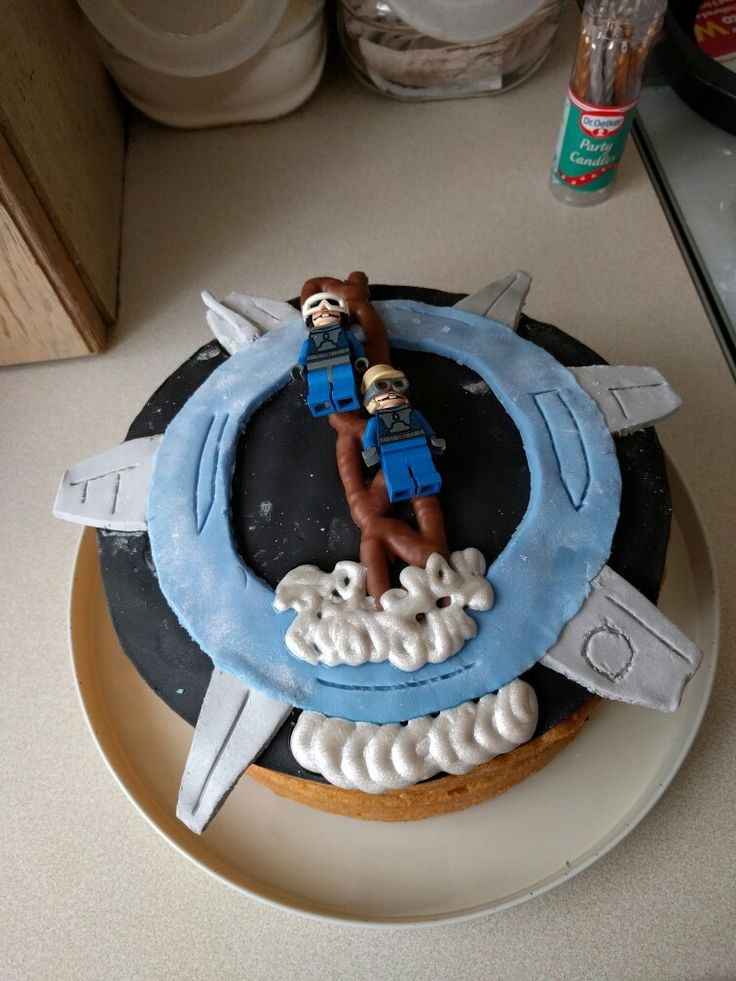 Alton towers Galactica birthday cake