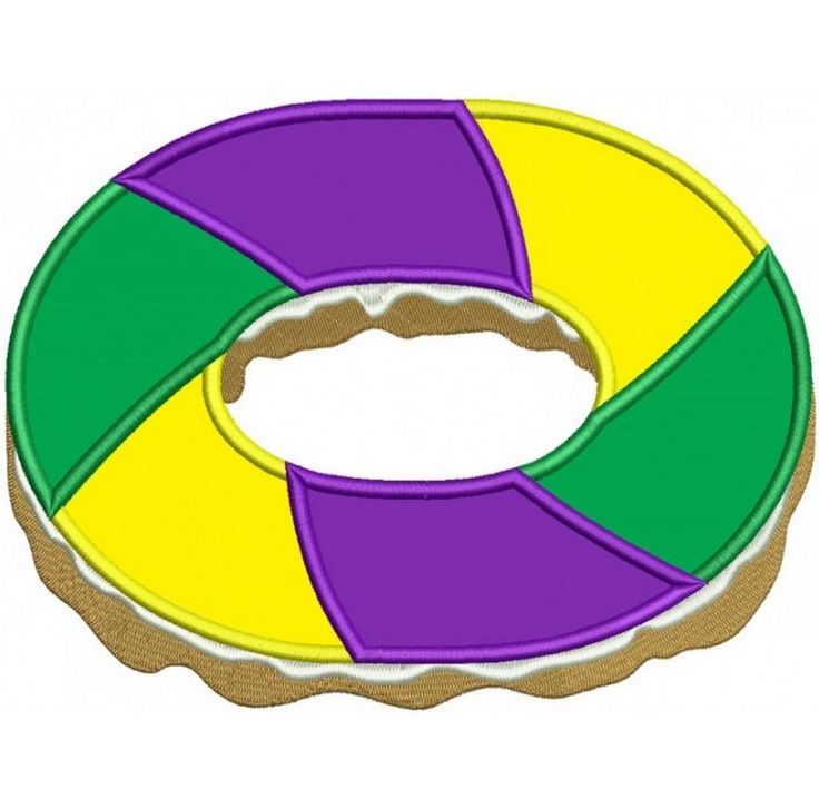 King Cake Clip Art : 33 best images about Mardi Gras Embroidery Designs on ...