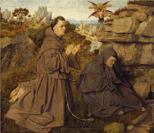 Jan van Eyck (Flemish, c.1390-c.1441)St. Francis Receiving the Stigmata