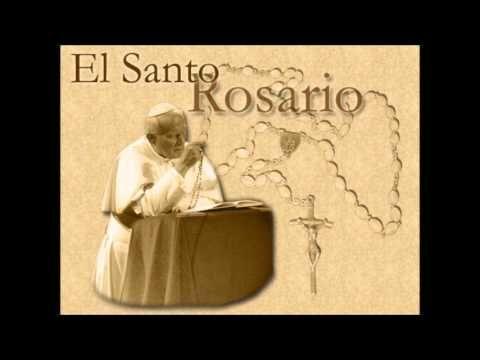 Rosario con el Papa Juan Pablo II - Misterios Gloriosos - YouTube
