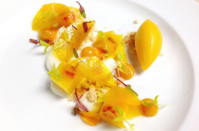 "Cream"" Peach Sorbet, Nectarine , Yogurt Cream, Peach Glass, Nectarine ..."