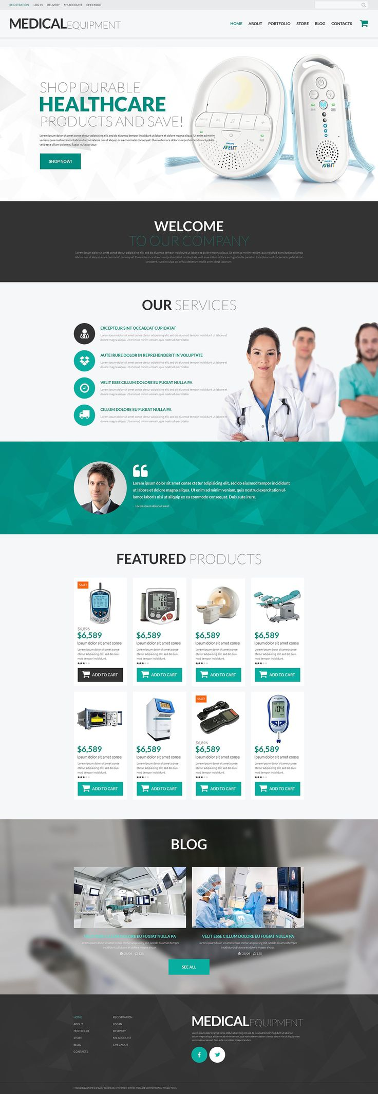 Medical Equipment #WordPress #WooCommerce #Responsive Theme