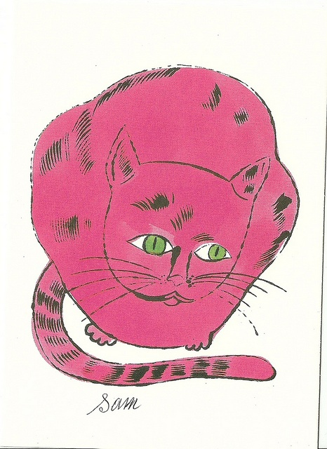 fuchsia Sam |  lithograph with watercolour, 1954 | Andy Warhol