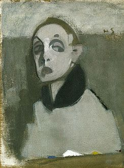 Helene Schjerfbeck,   Self-Portrait with Palette I, 1937.