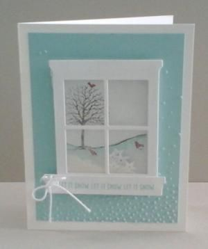 Stampin up stamp set Happy Scenes shaker card by lynette
