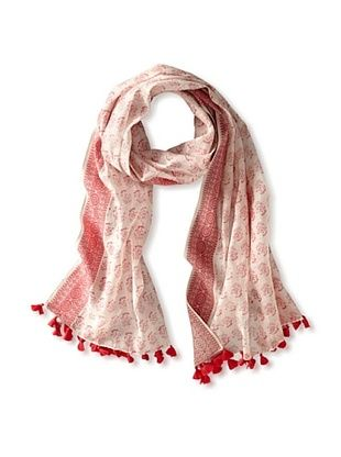59% OFF Micky London Women's Floral Saree Scarf, Rasberry/White