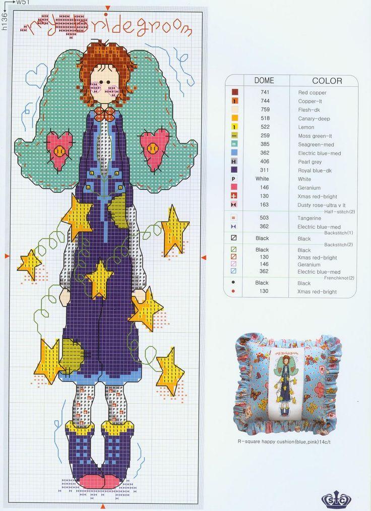 Schema punto croce Angel1