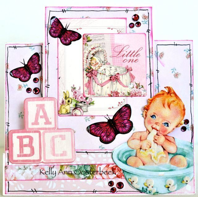 A step card by Kelly-ann Oosterbeek made using the Peek-A-Boo Collection from Kaisercraft. www.kellyanno.com