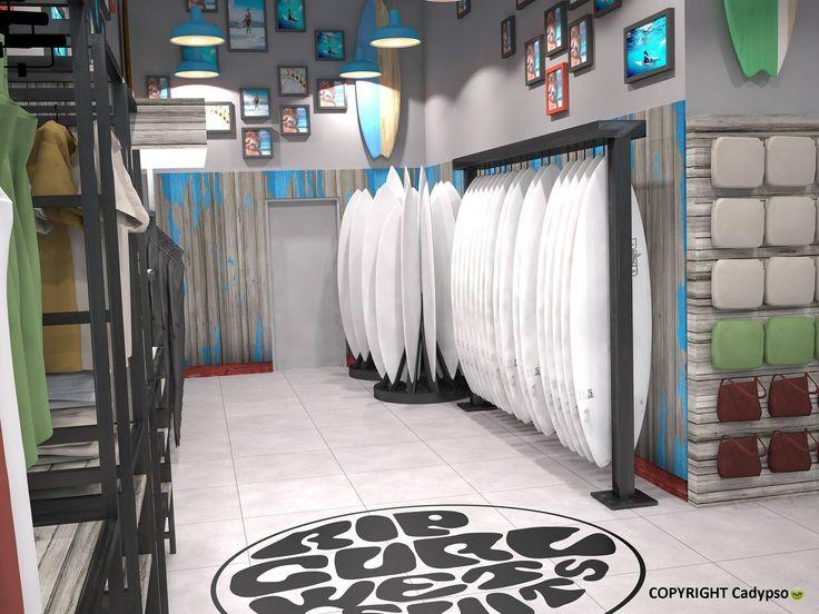 magasin rip curl r alis par architecture d 39 int rieur agencement magasins. Black Bedroom Furniture Sets. Home Design Ideas