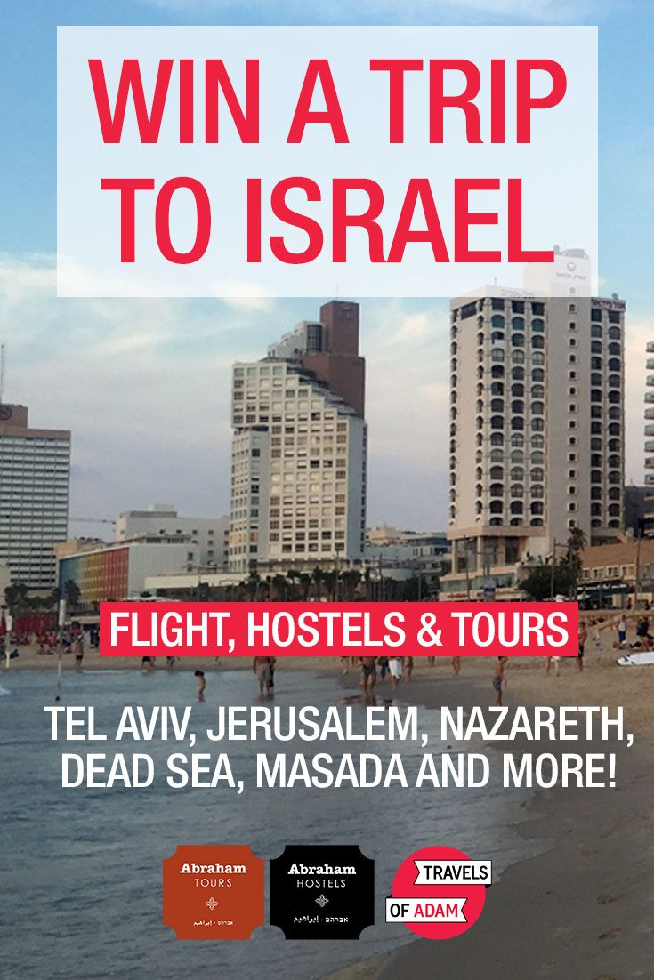 I've just entered to #win a trip to Israel with @abrahamhostels via @travelsofadam! Enter here: http://contest.travelsofadam.com/winisrael?kid=9GAP4