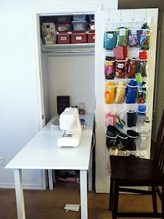 sewing closet (FoldOut Sewing Table)