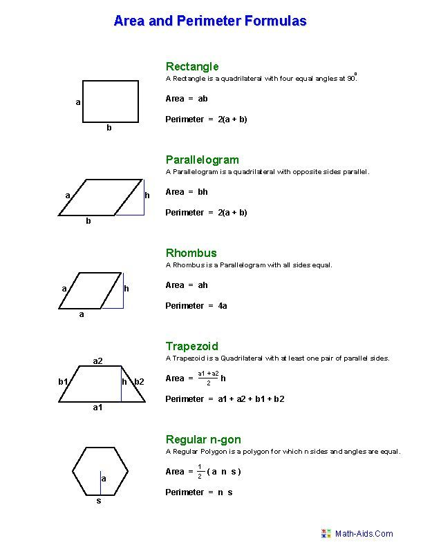Hexagon Area Worksheets | Geometry Worksheets | Area and Perimeter Worksheets: